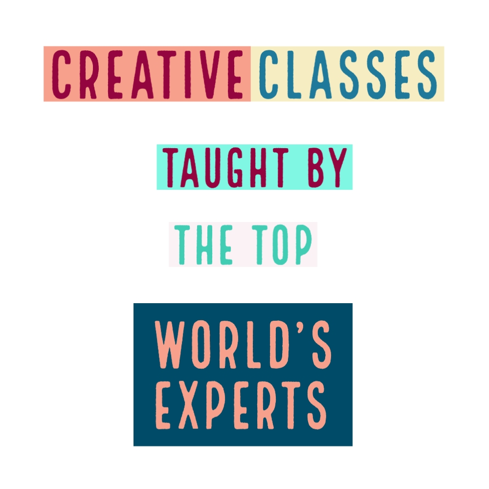 creative courses taught by worlds experts