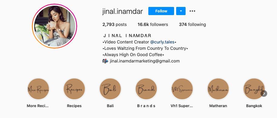 social media influencer jinal inamdar